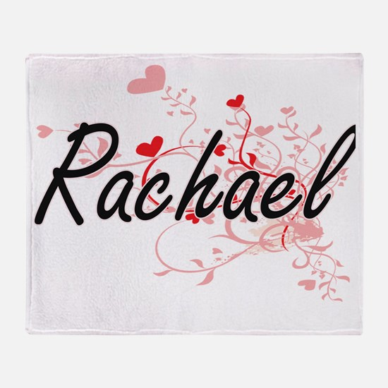 Rachael Artistic Name Design with He Throw Blanket