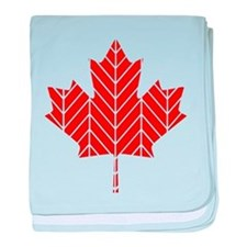 Chevron Maple Leaf baby blanket