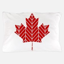 Chevron Maple Leaf Pillow Case