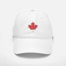 Chevron Maple Leaf Baseball Baseball Cap