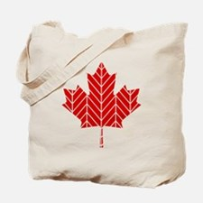 Chevron Maple Leaf Tote Bag
