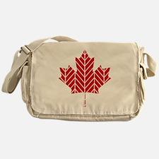 Chevron Maple Leaf Messenger Bag