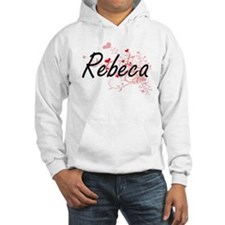 Rebeca Artistic Name Design with Hoodie Sweatshirt
