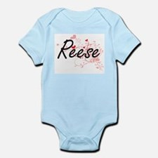 Reese Artistic Name Design with Hearts Body Suit