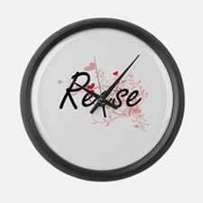 Reese Artistic Name Design with H Large Wall Clock