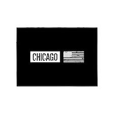 U.S. Flag: Chicago 5'x7'Area Rug