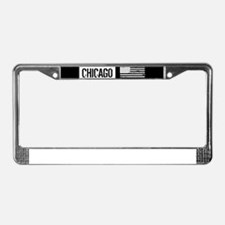 U.S. Flag: Chicago License Plate Frame