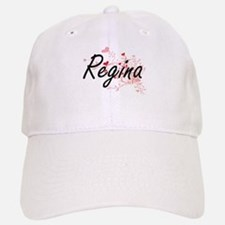 Regina Artistic Name Design with Hearts Cap