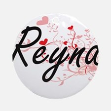 Reyna Artistic Name Design with H Ornament (Round)