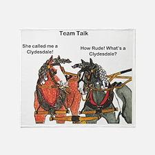 Team Talk 1 Throw Blanket