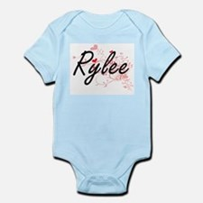 Rylee Artistic Name Design with Hearts Body Suit