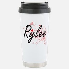 Rylee Artistic Name Des Stainless Steel Travel Mug