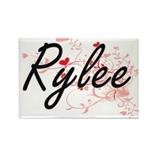 Rylee Artistic Name Design with Hearts Magnets