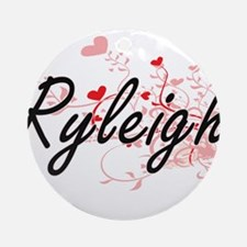 Ryleigh Artistic Name Design with Ornament (Round)