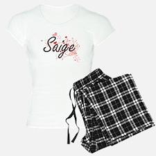 Saige Artistic Name Design Pajamas