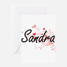 Sandra Artistic Name Design with He Greeting Cards