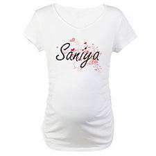 Saniya Artistic Name Design with Shirt