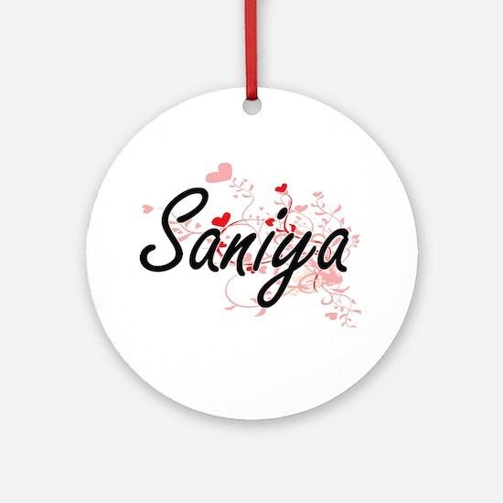 Saniya Artistic Name Design with Ornament (Round)