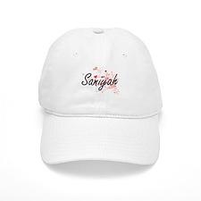 Saniyah Artistic Name Design with Hearts Baseball Cap