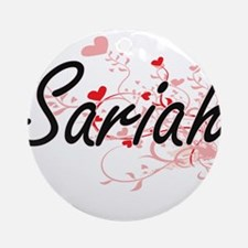 Sariah Artistic Name Design with Ornament (Round)