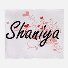 Shaniya Artistic Name Design with He Throw Blanket