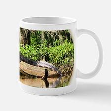 crocodile on log Mugs