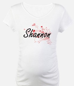 Shannon Artistic Name Design wit Shirt