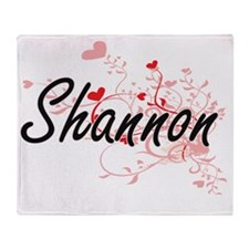 Shannon Artistic Name Design with He Throw Blanket