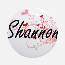 Shannon Artistic Name Design with Ornament (Round)