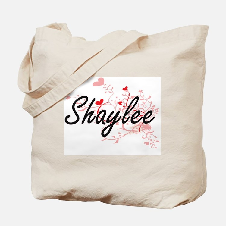 Shaylee Artistic Name Design with Hearts Tote Bag