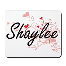Shaylee Artistic Name Design with Hearts Mousepad