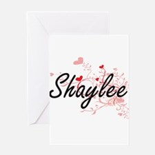 Shaylee Artistic Name Design with H Greeting Cards