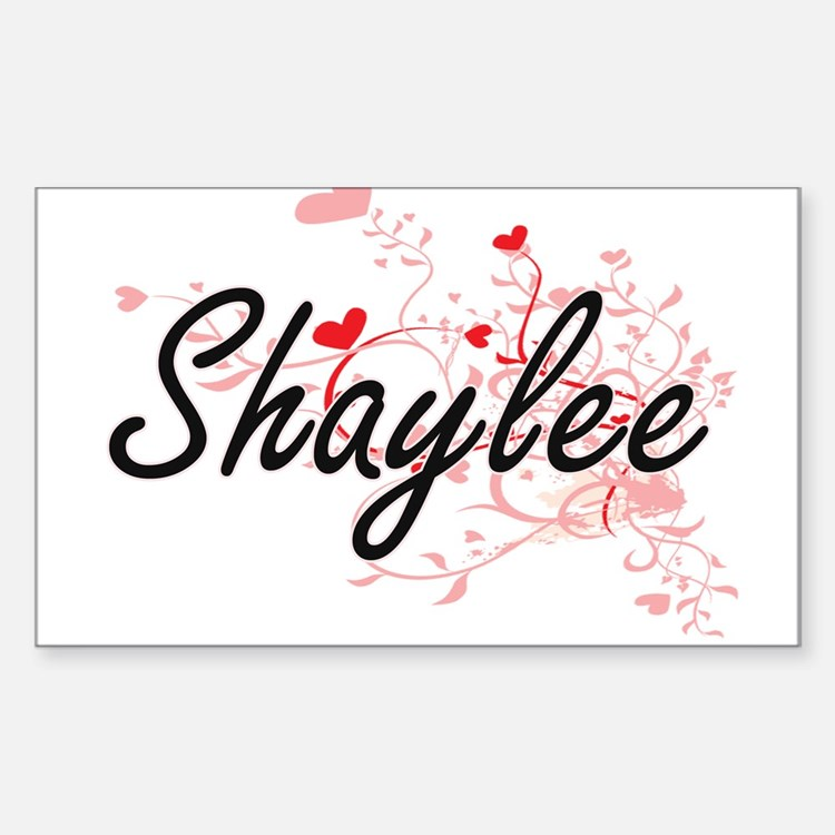 Shaylee Artistic Name Design with Hearts Decal