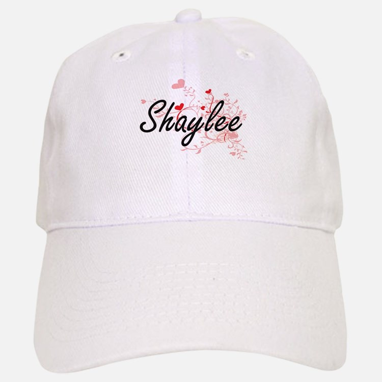 Shaylee Artistic Name Design with Hearts Baseball Baseball Cap