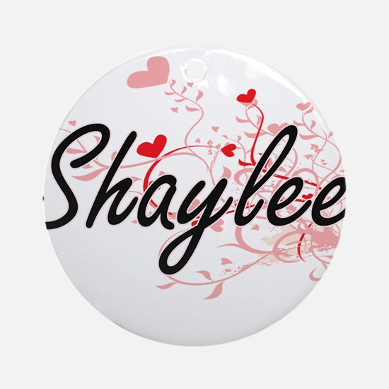 Shaylee Artistic Name Design with Ornament (Round)