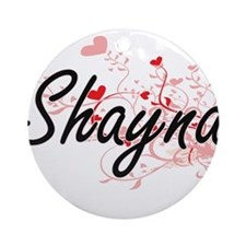 Shayna Artistic Name Design with Ornament (Round)