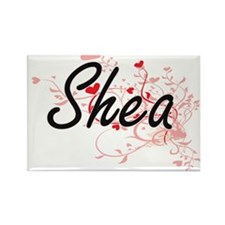 Shea Artistic Name Design with Hearts Magnets