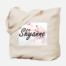 Shyanne Artistic Name Design with Hearts Tote Bag
