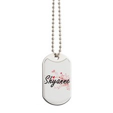 Shyanne Artistic Name Design with Hearts Dog Tags