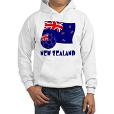 New Zealand Soccer Ball and Flag Hoodie
