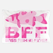 BASS FISHING GIRL Pillow Case