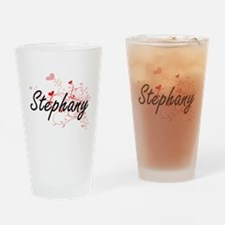 Stephany Artistic Name Design with Drinking Glass