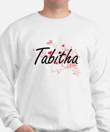 Tabitha Artistic Name Design with Heart Sweater