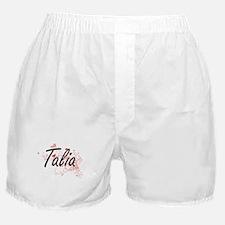 Talia Artistic Name Design with Heart Boxer Shorts