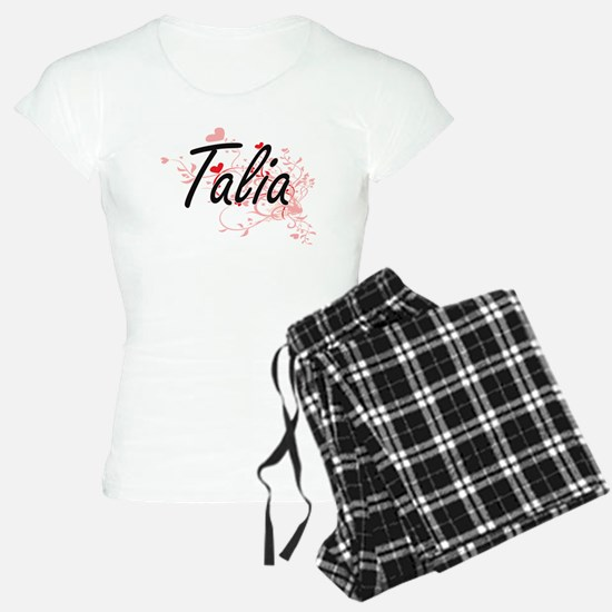 Talia Artistic Name Design Pajamas