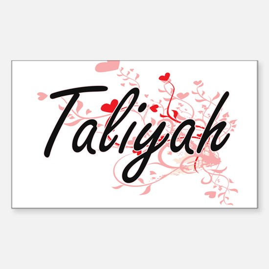 Taliyah Artistic Name Design with Hearts Decal