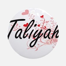 Taliyah Artistic Name Design with Ornament (Round)