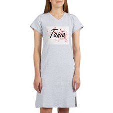 Tania Artistic Name Design with Women's Nightshirt