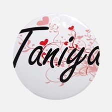 Taniya Artistic Name Design with Ornament (Round)