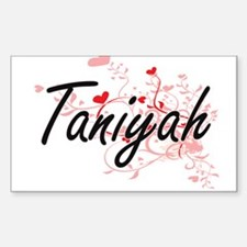 Taniyah Artistic Name Design with Hearts Decal